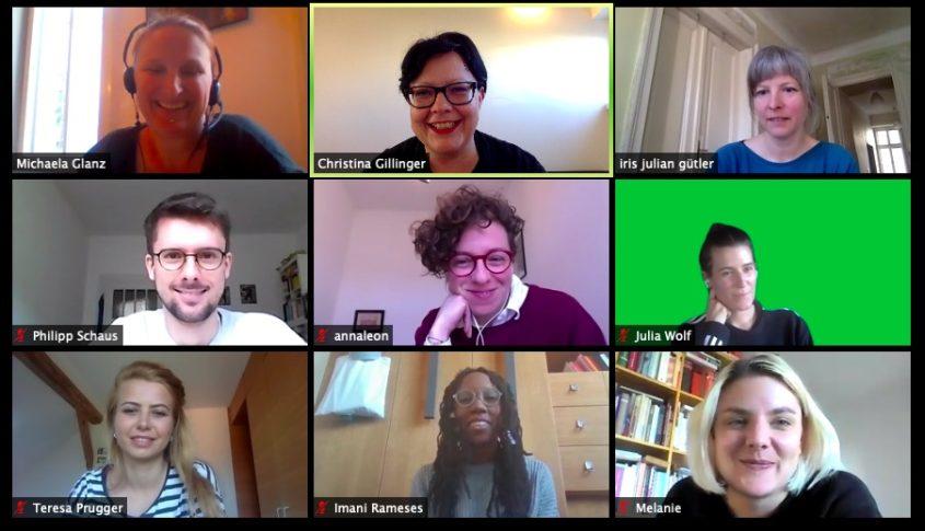 Zoom Screenshot mit allen Doc-Teilnehmerinnen