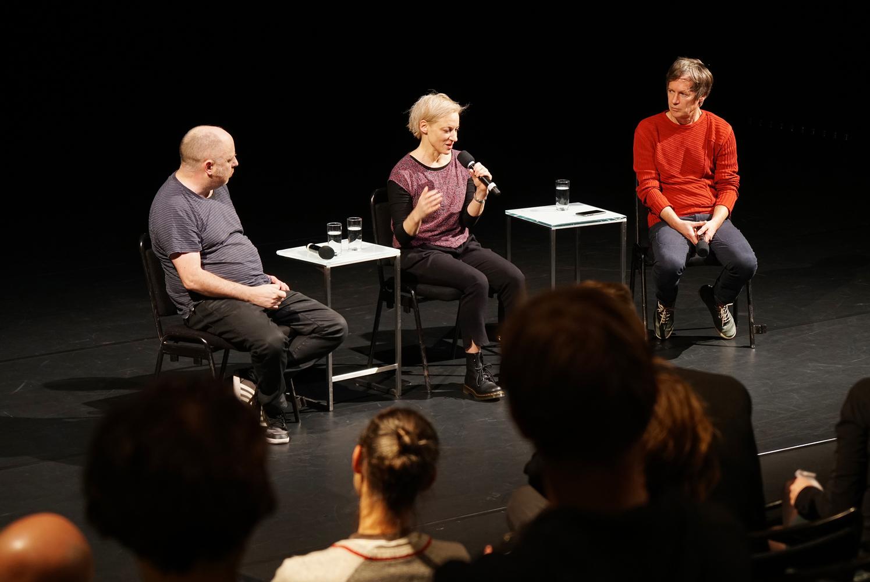 Artist Talk, Tim Etchells, Meg Stuart und Janez Janša