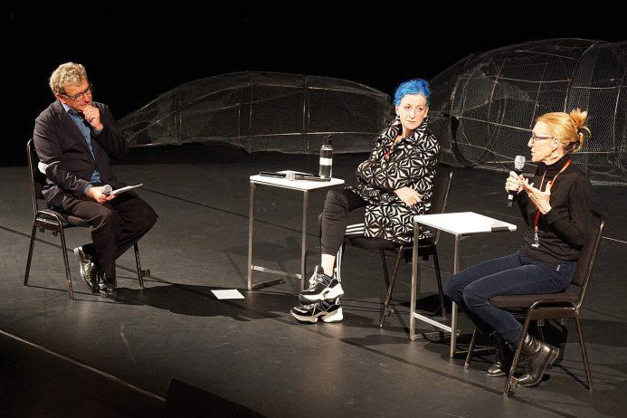 Artist Talk, Stefan Hulfeld, La Ribot und Mathilde Monnier