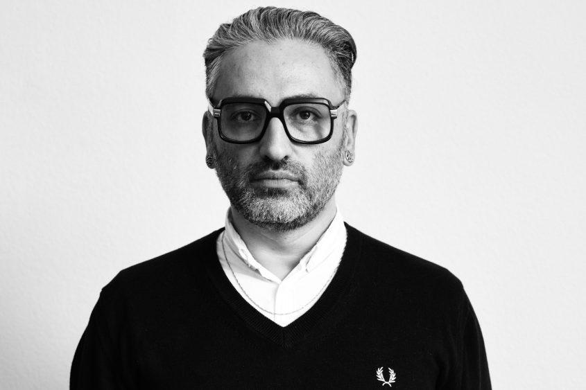 Fahim Amir, schwarz weiß Portrait